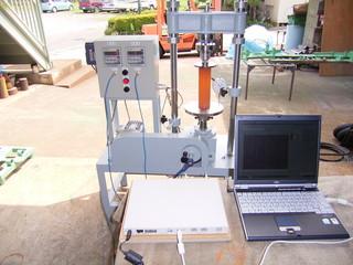 電動スクリュー式載荷試験機(一軸・CBR・他試験)ソフト付