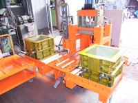 2パレット型せん断試験機(油圧サーボ型)