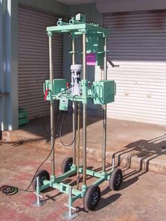 サーチN型電動スウェーデン式サウンディング試験機(簡単操作の試験機)