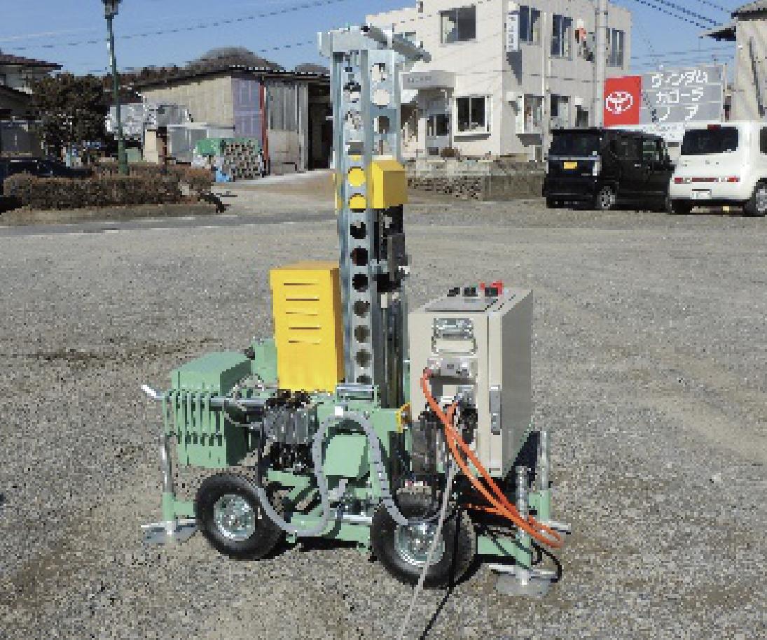狭小地仕様型全天候地盤調査機UR-10型B